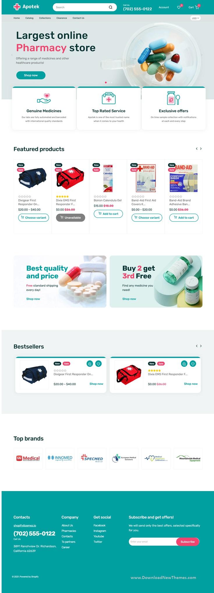 Shopify Pharmacy eCommerce Store Theme