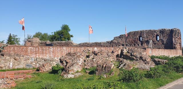 Ruiny zamek krzyżacki Toruń