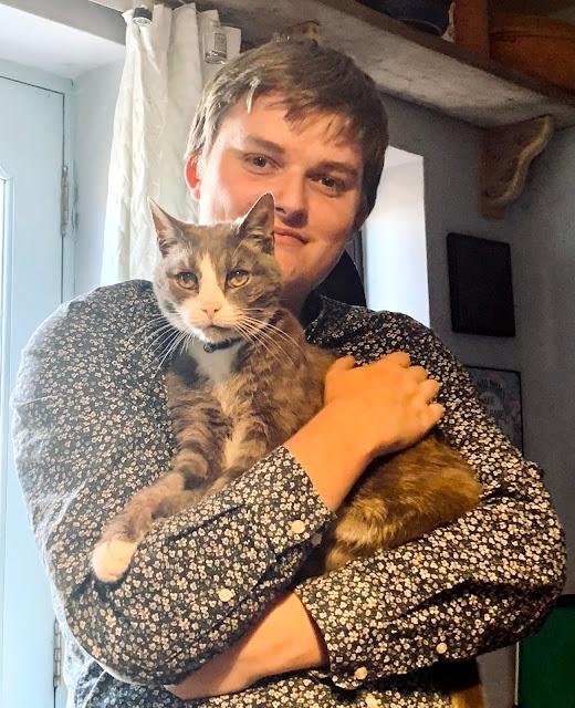 Lucas and cat Oscar