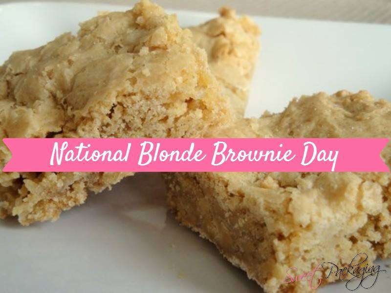 National Blonde Brownie Day Wishes Photos