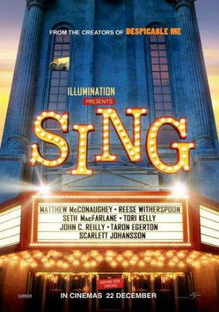 Sing 2016 BluRay Hindi 300MB Dual Audio ORG 480p Watch Online Full Movie Download bolly4u