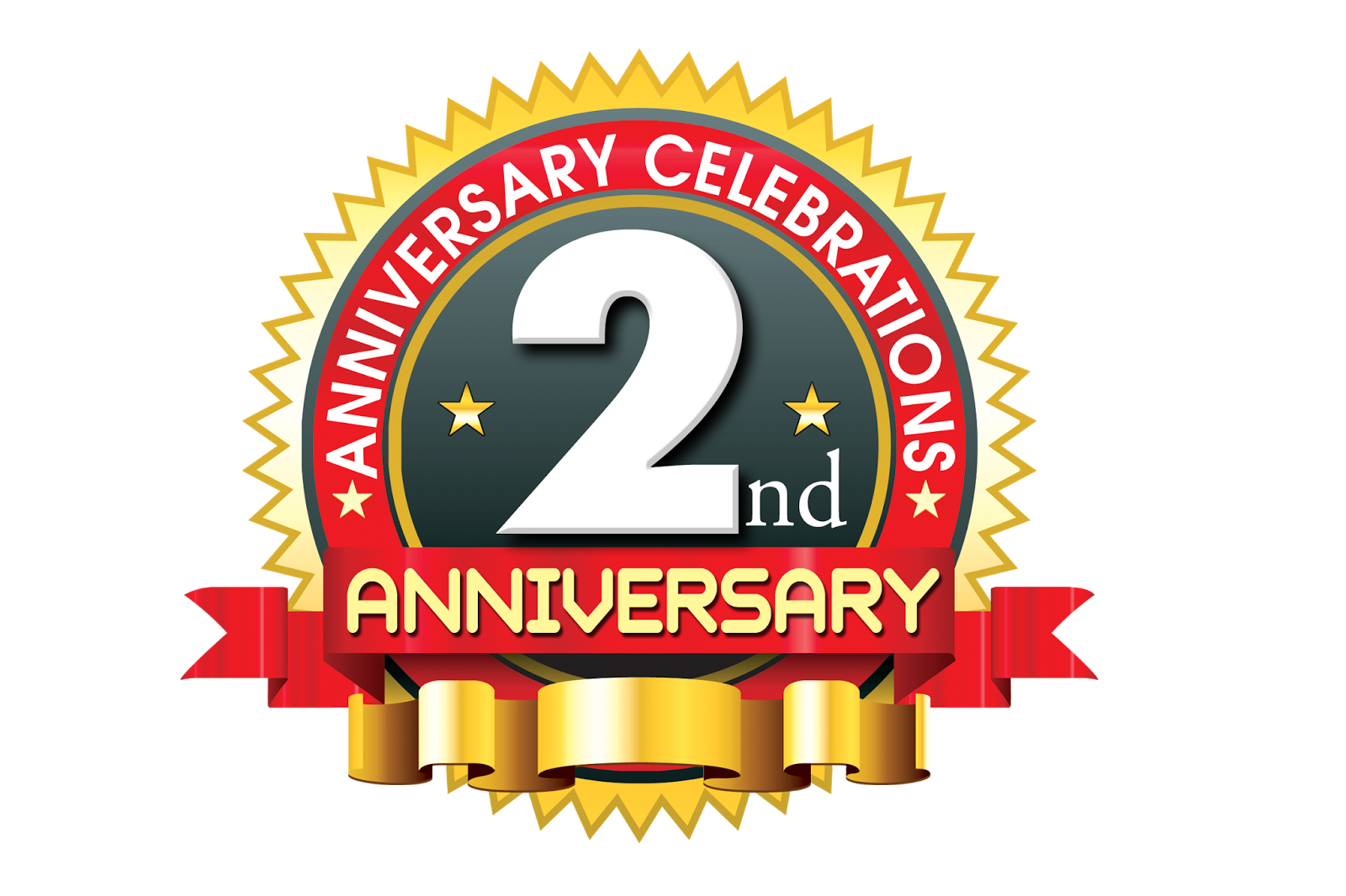 Nd anniversary logo vector template free downloads