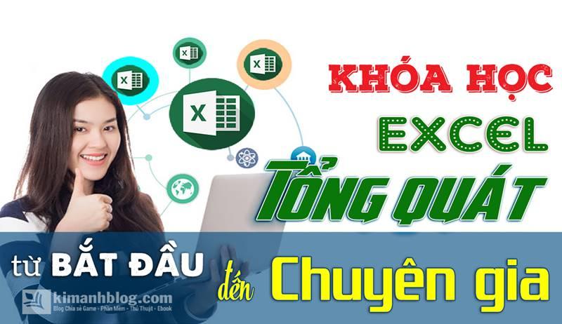 Share Free Video Khóa học Excel tổng quát từ bắt đầu đến chuyên gia