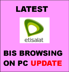 Latest update on Etisalat blackberry subscription browsing on PC and other devices