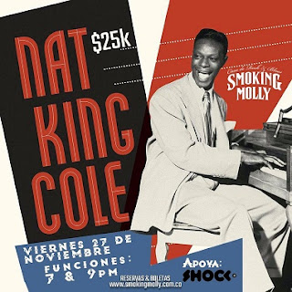Concierto Tributo a Nat King Cole en Smoking Molly Bogotá