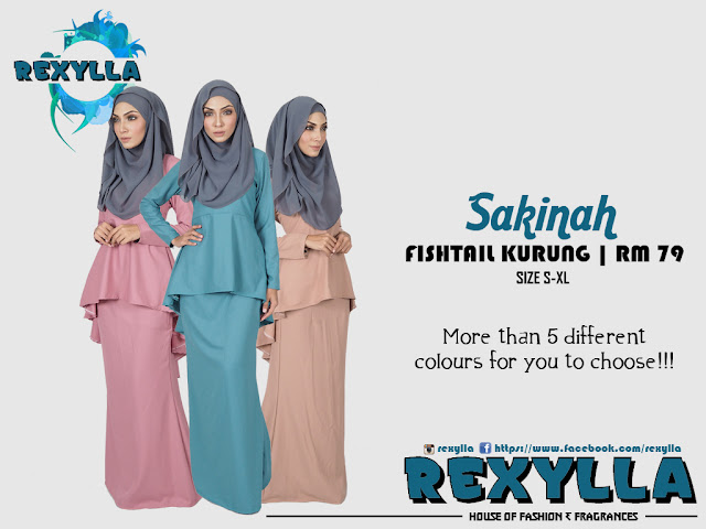 rexylla, fishtail, fishtail kurung, sakinah collection