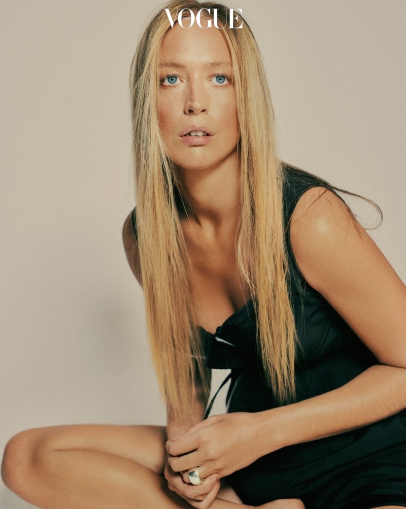 Raquel Zimmermann Poses in Bottega Veneta Looks for Vogue Korea