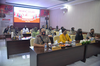 Secara Virtual Kapolres  Cirebon Kota Hadiri Acara Puncak Peringatan Hari Jadi ke 72 Polwan RI