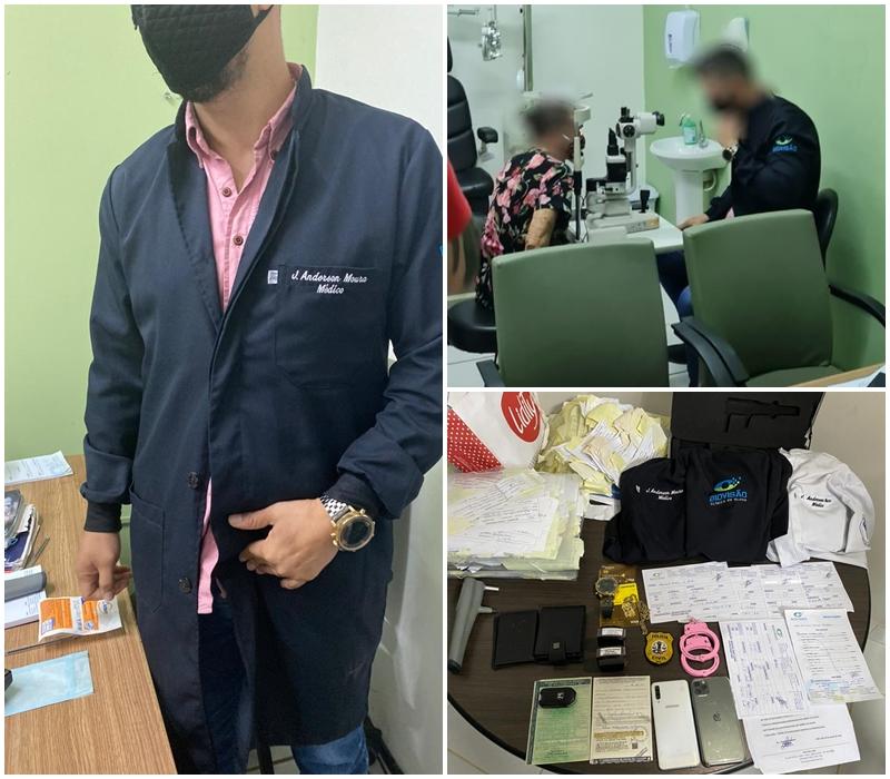 Blog do Gilberto Lima: Falso oftalmologista é preso em flagrante realizando atendimento em São Luís