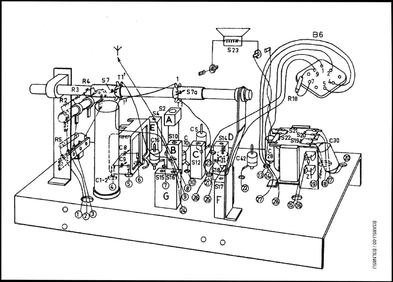 Os rádios do Claudino: Rádio Philips modelo B3LN85U (I)