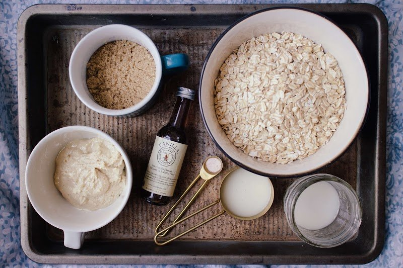 Homemade oatmeal hydrating face mask,