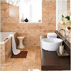 Design a Cappuccino Marble Bathroom Ideas