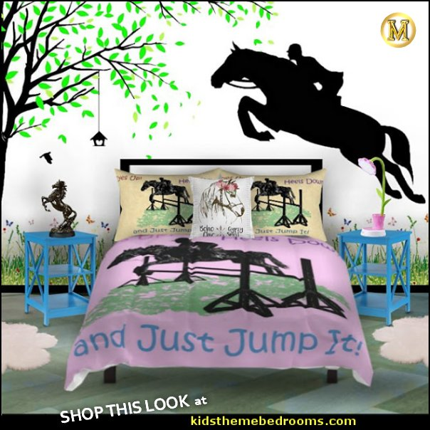 horse jumping bedrooms horse jumping bedding HORSE BEDROOMS
