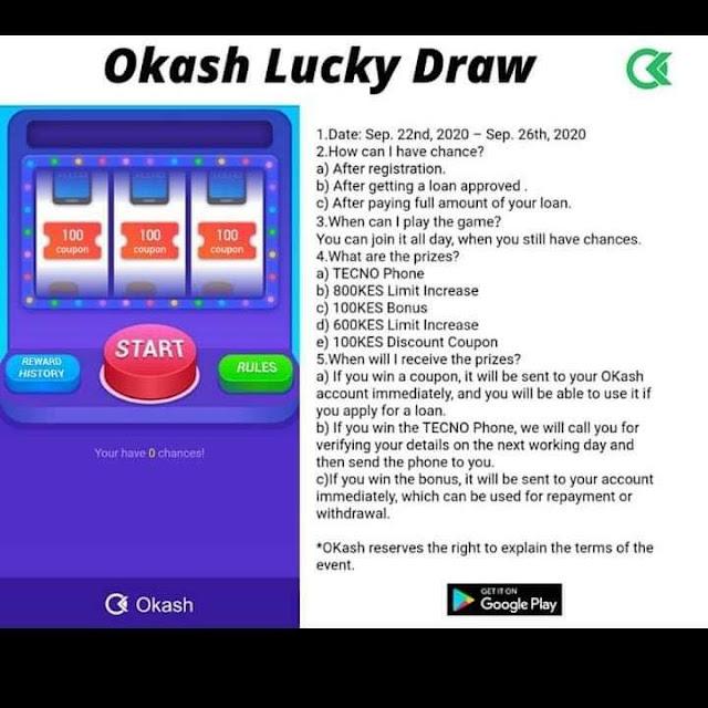 Okash Lucky game