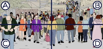 Figure: Now there's a busy street! Bet you can't spot him here!