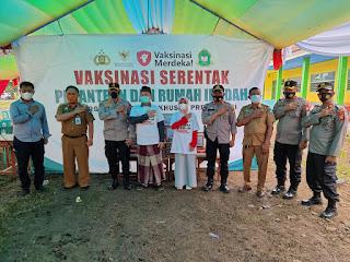Kapolres Gowa Berikan Bantuan ke Pengurus Pesantren NU Bahrul Ulum Pallangga