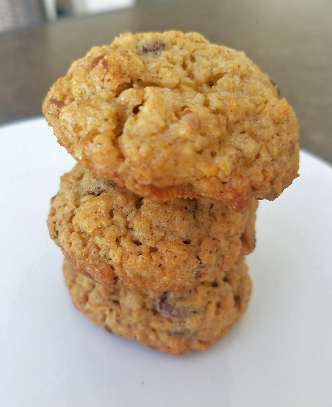 this are a stack of oatmeal raisin healthy cookies from the book Sly Moves from the Rocky 3 movie he ate on the set