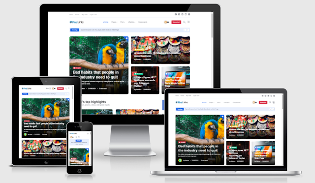 Share Personal Blogspot Template 2021 Free