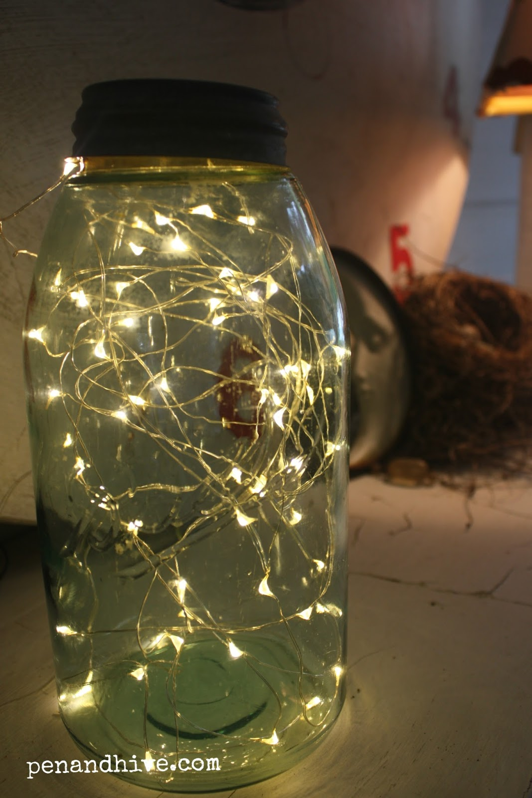 Pen Amp Hive How To Make A Firefly Lamp For Your Backporch