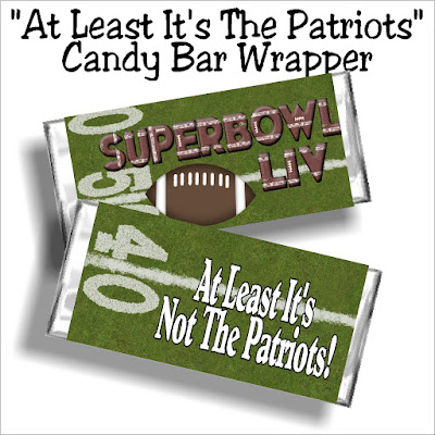 "Enjoy the big game with this fun Super Bowl LIV printable candy bar wrapper. Whether you are cheering on the 49ers or the Chiefs or just glad ""at least it's not the Patriots, enjoy these football party food treats at your football game this weekend."