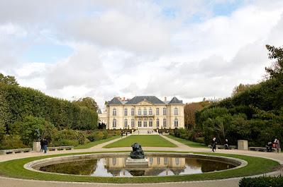 Postcard view of Musée Rodin in Paris