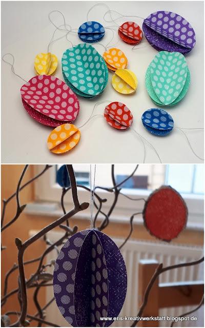 3D Ostereier aus Designerpapier für den Osterstrauß Stampin' Up! www.eris-kreativwerkstatt.blogspot.de