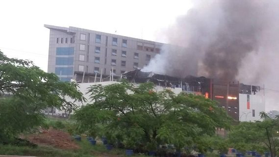 Image result for Fire engulfs House on the Rock Church in Abuja (photos)