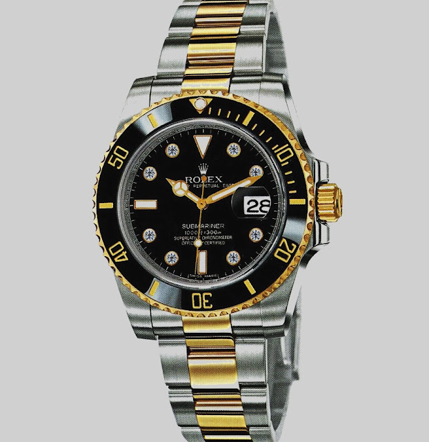 "أفضل ساعة رولكس أصليه ""Submariner Black Dial Stainless Steel Rolex"""