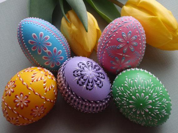 Украшаем пасхальные яйца своими руками: Видео МК