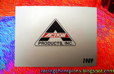 1989 Action Products Inc. Black Car Racing Champions Card 1/64 NASCAR diecast blog