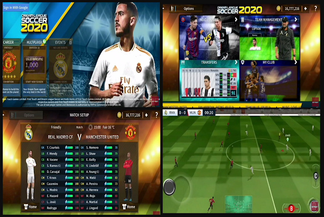 Anda jangan lupa untuk Unduh juga file  Download DLS Dream League Soccer 2020 Mod APK DATA OBB