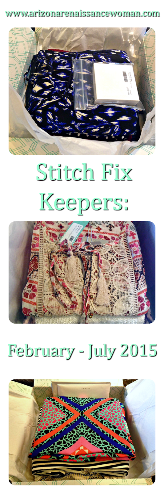 Stitch Fix Keepers: February - July 2015 Collage