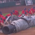 Nationals grounds crew struggles with entangled tarp during rain delay