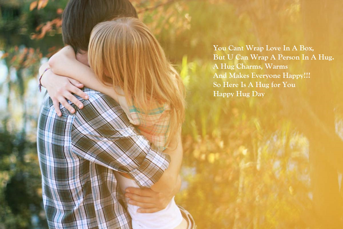 happy hug day for lover
