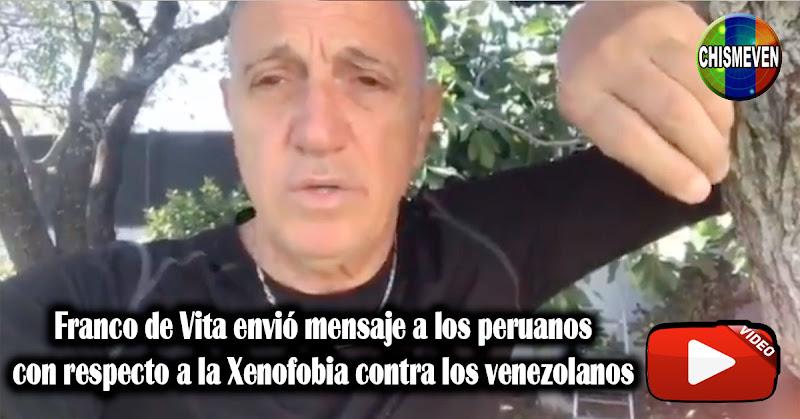 Franco de Vita envió mensaje a los peruanos con respecto a la Xenofobia contra los venezolanos