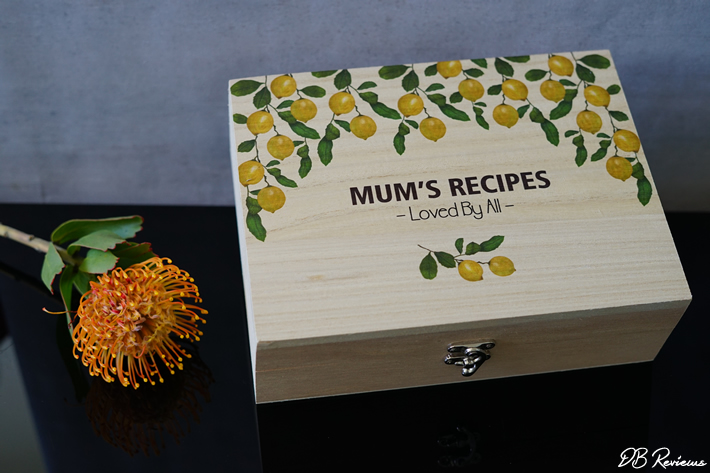 Personalised Recipe Box from GiftPup