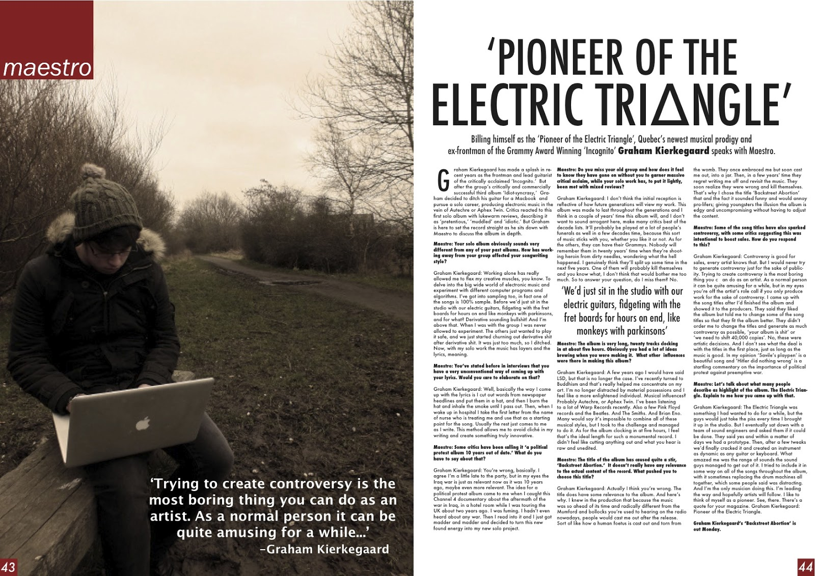 233af10c93b694 Jay Foster Media Blog: Music Magazine: Double Page Spread Article ...