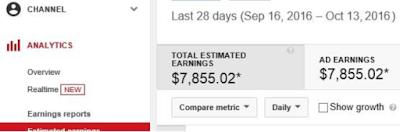 Cara Mendapatkan Uang $1000/ Bulan dari Youtube dari Newbie Pemalas