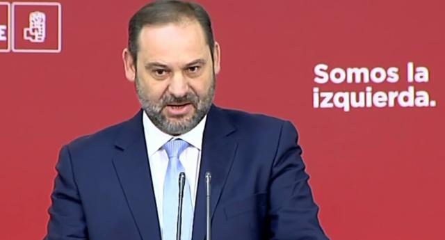 Ábalos pide a Cs y PP un pronunciamiento por los insultos de  Vox en Murcia a la ministra Delgado