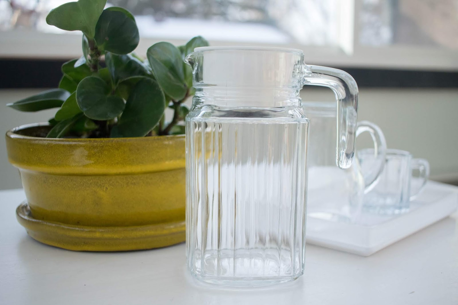 Making water available - pitcher options for a Montessori home.