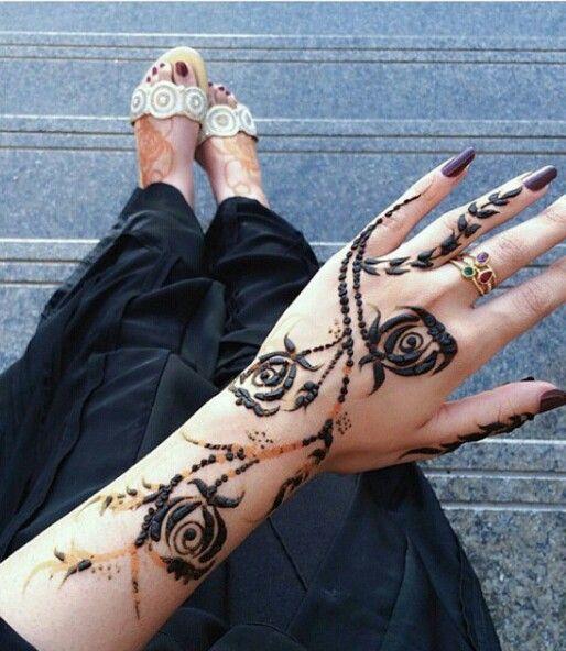 Latest Khaleeji Henna Designs