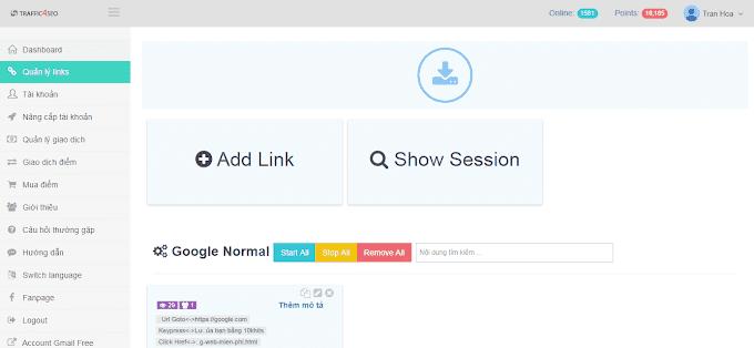 Hướng dẫn thiết lập từ khóa google search của traffic4seo