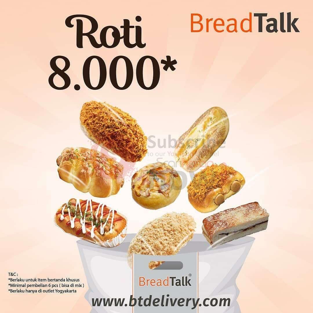 BREADTALK Store Yogayakarta Promo Roti harga hanya Rp 8.000,-