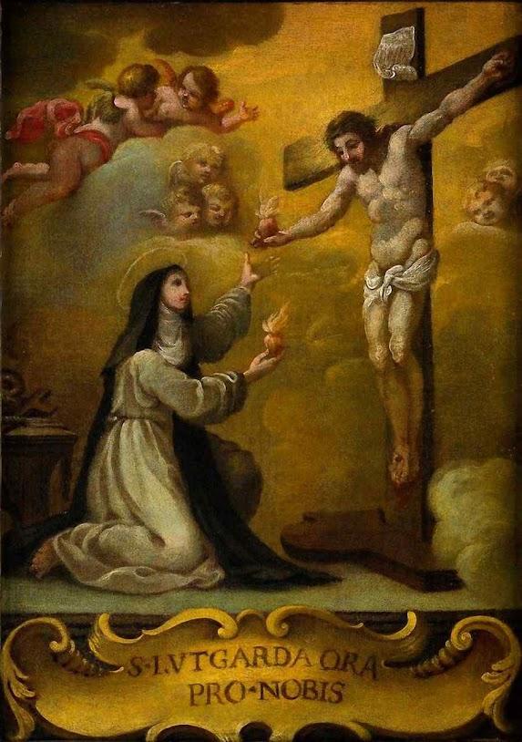 Santa Lutgarda (1182-1246), primeira santa medieval que recebeu a graça de trocar de coração com Jesus. Soeur Marie des Vallées abriu uma via para muitos escolhidos.