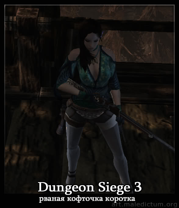 Dungeon Siege 3: рваная кофточка коротка