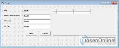 Bikin Autonumber Otomatis Pada VB 6.0 dan MySQL