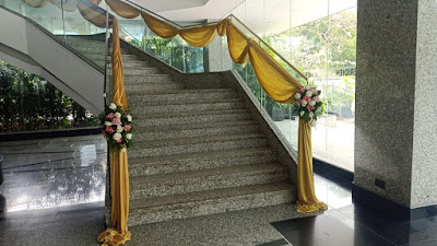 hand railing with flowers design wedding