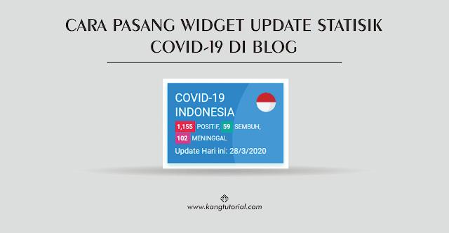 Cara Memasang Widget Update Statistik Corona di Blogger