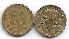 Moeda de 10 centavos, 1954