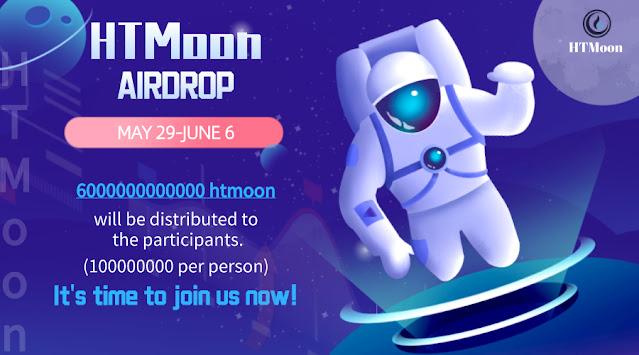 Cryptocurrency Airdrop HTMoon - 6,000,000,000,000 Token